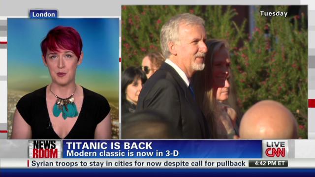'Titanic' premieres in 3-D