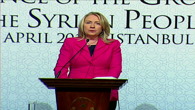 Clinton: Will support Syria opposition