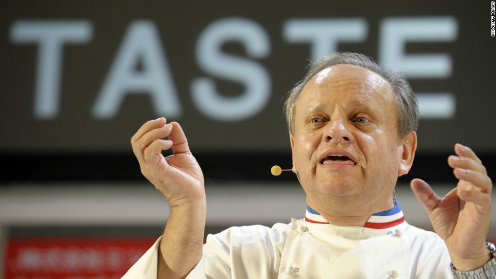 26 star Michelin chef Joel Robuchon has collaborated with Air France to create the airline's business-class menu.