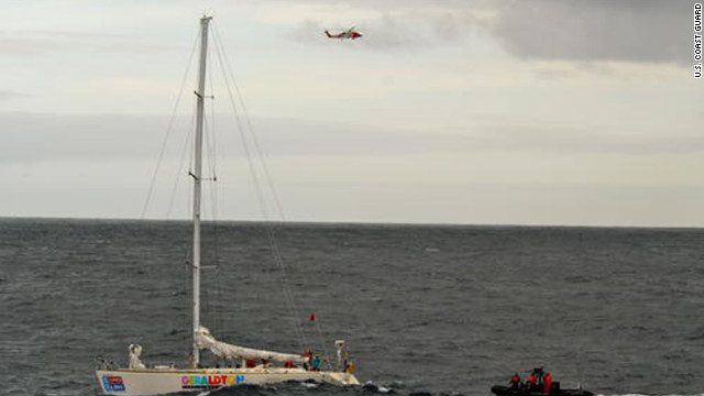 Coast Guard rescues 2 from racing yacht