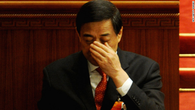 Bo Xilai is seen on March 14, a day before he was removed from his post as party secretary of Chongqing.