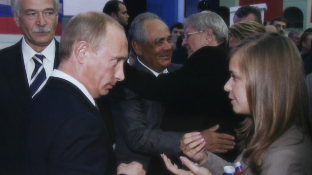 Masha Drokova became famous as the teen who kissed Russian President Vladimir Putin.