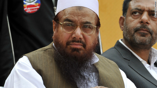 Hafiz Mohammad Saeed, left, seen in April 2011, is head of Pakistan's outlawed Islamic hard-line group Jamaat-ud-Dawa.