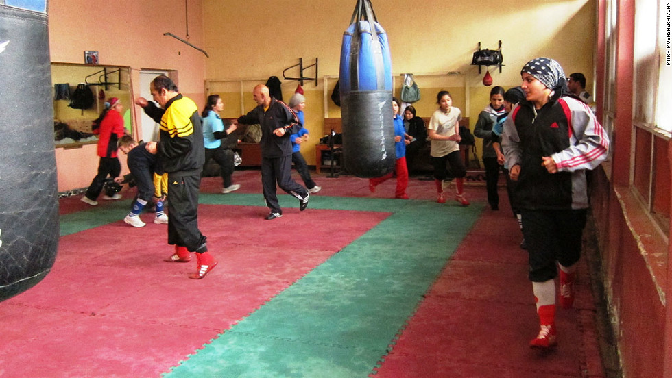 Rahimi says she can only train for an hour for a day, such is the demand for sports facilities in the Afghan capital.