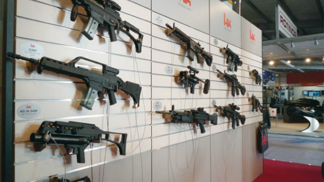 Bombs, guns hawked at arms trade show