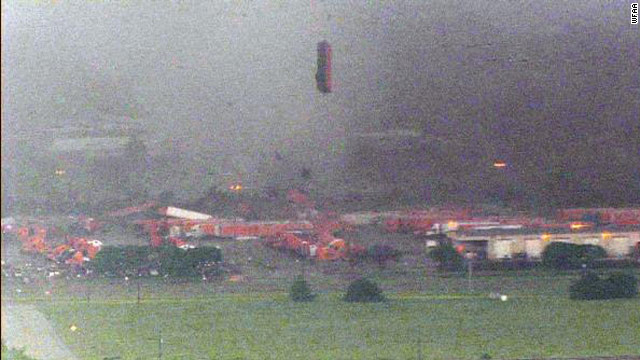 Big rigs sucked into storm