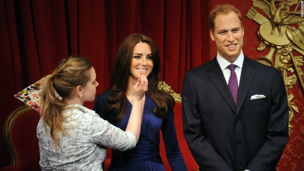 New wax figures of Prince William, Duke of Cambridge and Catherine, Duchess of Cambridge have been unveiled at Madame Tussauds in London.