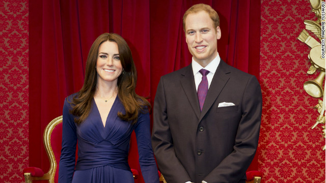 William and Catherine unveiled in wax