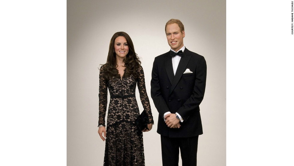 "In the Amsterdam version, ""Kate"" wears a copy of the floor-length black lace Temperley London dress she wore to the premiere of the film ""War Horse"" in January."