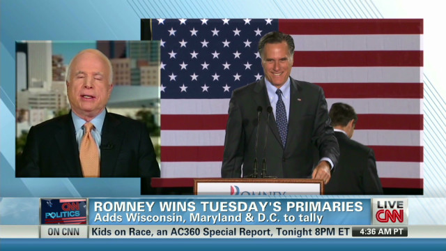 McCain: Santorum 'irrelevant' in race