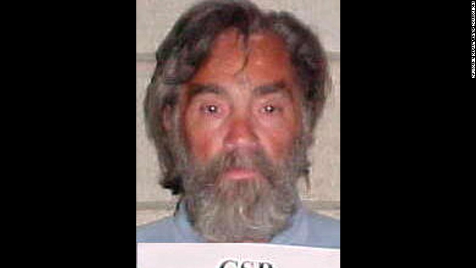 Manson is seen in a prison booking photo from 2002.