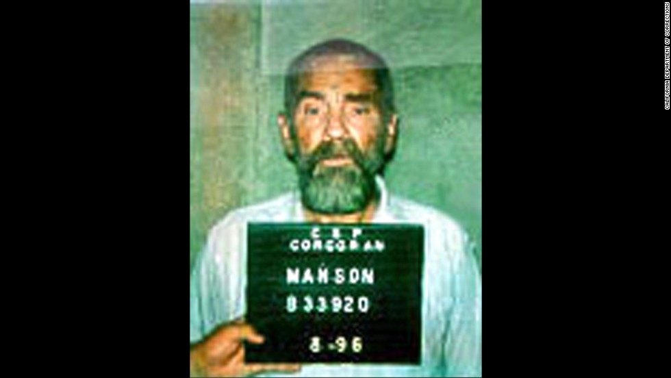 Manson in a 1996 booking photo.