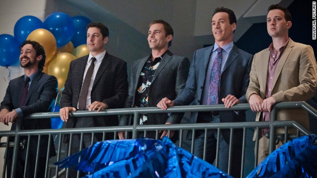 """American Reunion"" reconnects with the old gang nine years later -- older, milder, but still hungering for a bigger slice."