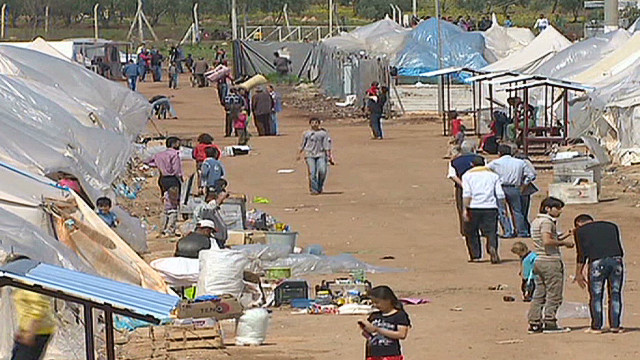 Increase of Syrian refugees in Turkey