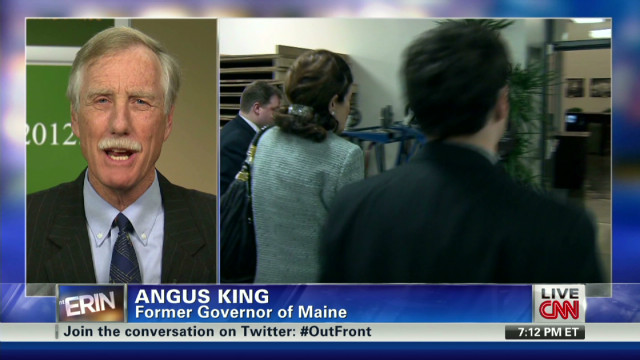 Independent Senate candidate Angus King