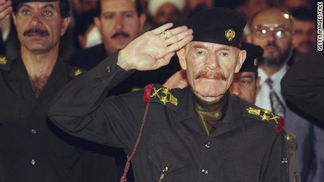 Izzat Ibrahim al-Douri, former former Baath official and deputy to deposed Iraqi president Saddam Hussein, in Baghdad in 1999.