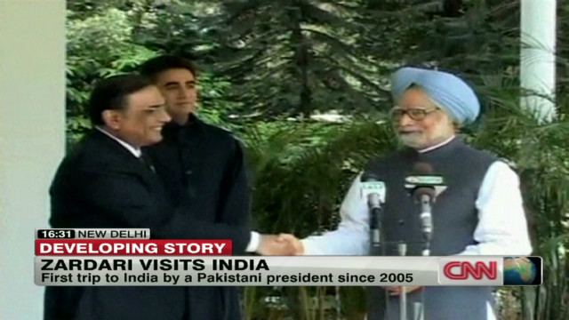 Pakistan's Zardari visits India
