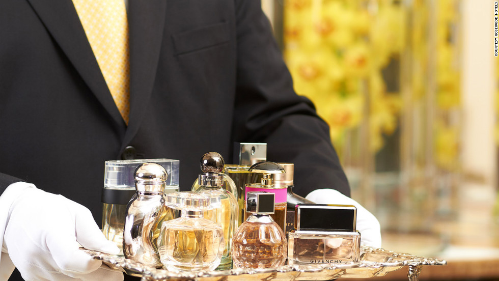 There is a dedicated fragrance butler in each of Rosewood Hotels' North American and Saudi Arabian properties with a fragrance menu tailored to the hotel.