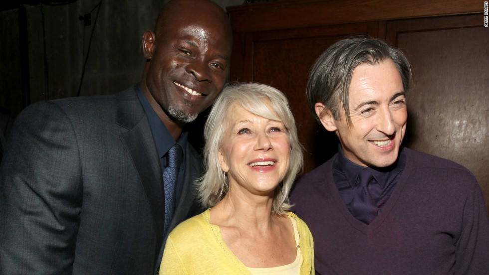 "Djimon Hounsou, Helen Mirren and Alan Cumming attend a party for the premiere of the 2010 film ""The Tempest"" on December 6, 2010 in Los Angeles."