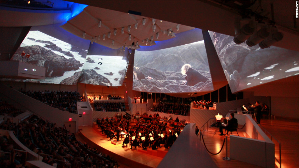 "The New World Symphony performs the premiere of ""Polaris""  in January at the symphony's New World Center home in Miami Beach, Florida."