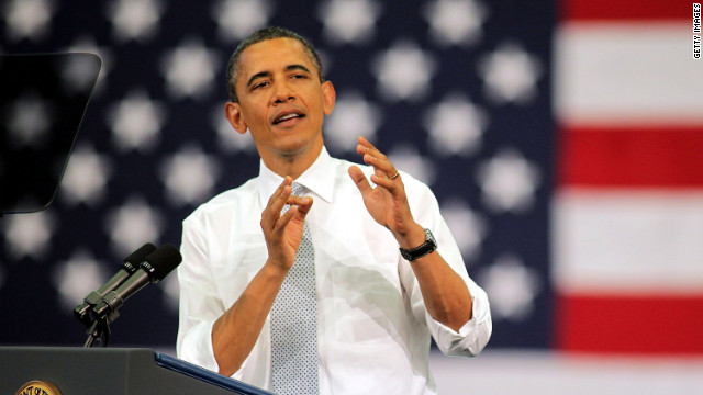 "President Barack Obama touts the ""Buffett Rule"" in a speech Tuesday at Florida Atlantic University in Boca Raton, Florida."