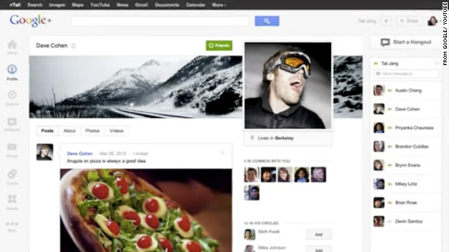 Google+ will now offer profile pages that will include bigger photos and feature chat lists that puts friends front and center.