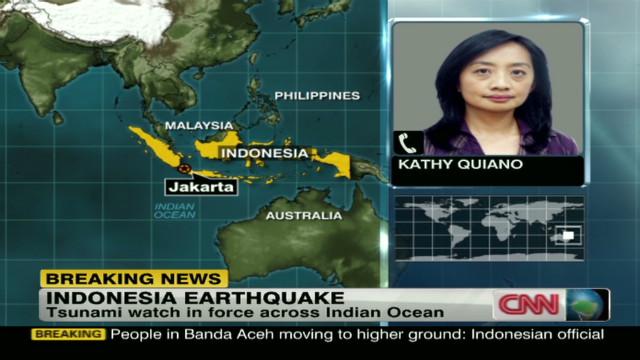 Tsunami watch across Indian Ocean