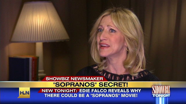 Edie Falco talks 'Sopranos' movie rumors