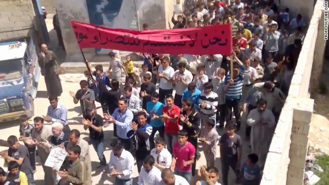 Protests test Syria's cease-fire