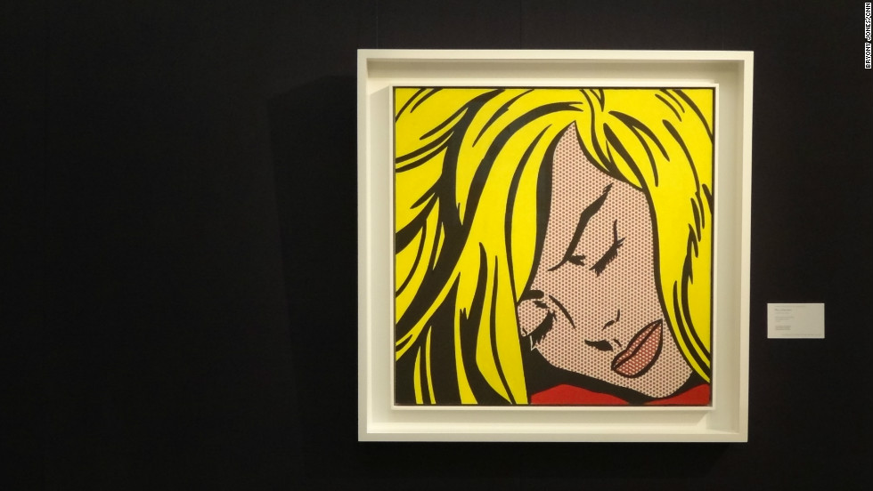 "Roy Lichtenstein's ""Sleeping Girl,"" one of the Pop Art star's ""comic book"" style works is also on show in London. It is expected to sell for between $30 and $40 million in Sotheby's Contemporary Art sale on May 9."