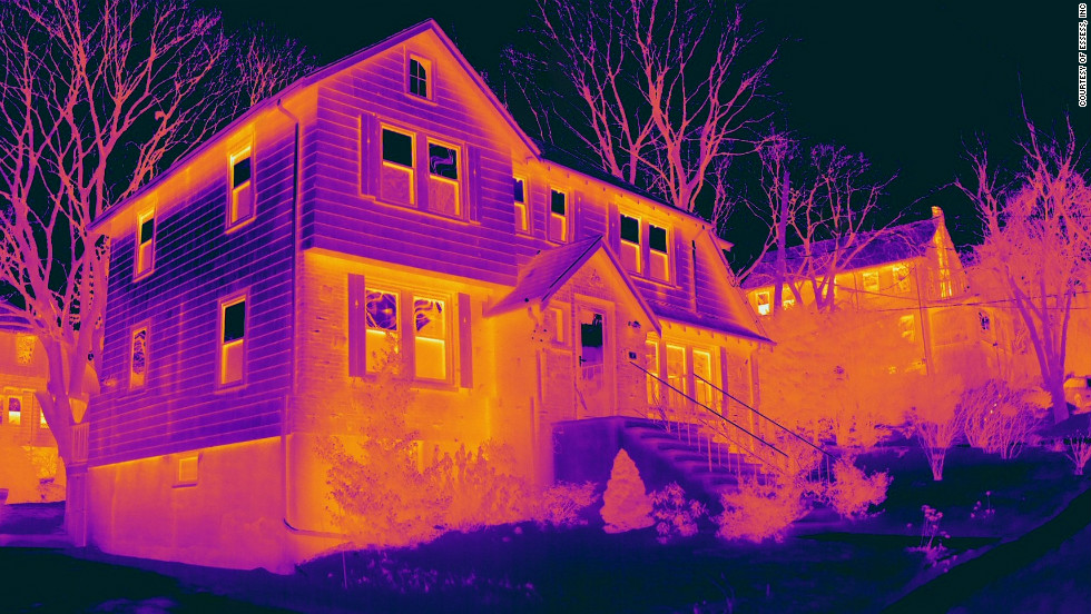 Thermal imaging can provide a useful snapshot of where buildings are losing heat, allowing householders to target insulation efforts more effectively.