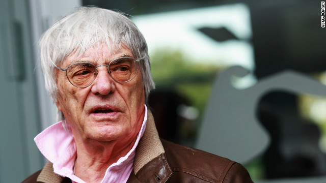 Bernie Ecclestone answers press questions on the forthcoming Bahrain Grand Prix on April 12, 2012 in Shanghai, China.