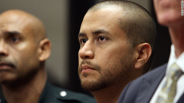SANFORD, FL - APRIL 12: George Zimmerman (C) appears for a bond hearing at the John E. Polk Correctional Facility April 12, 2012 in Sanford, Florida. Zimmerman was charged yesterday with second degree murder in the fatal shooting of 17-year-old Trayvon Martin who died February 26, 2012. (Photo by Gary Green/The Orlando Sentinel-Pool/Getty Images)