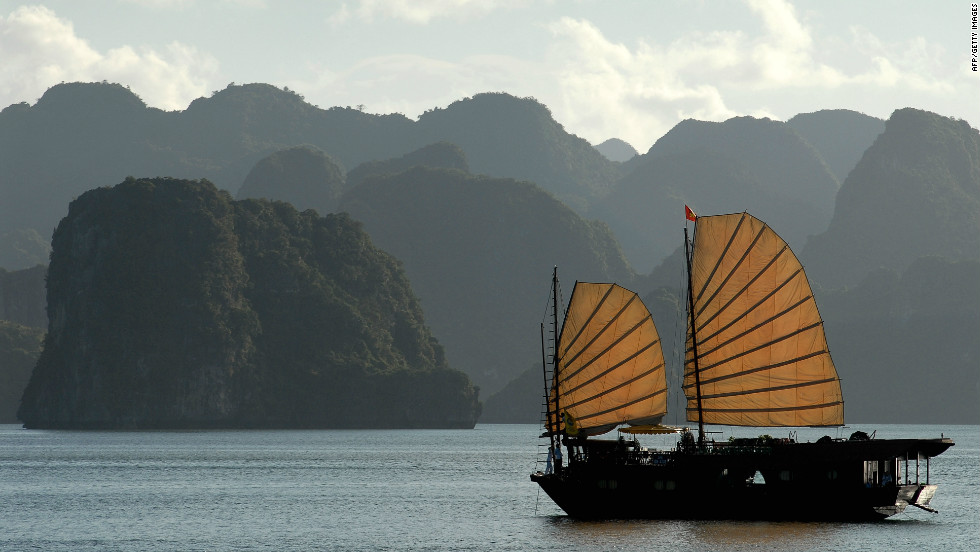 Vietnam's Halong Bay is a spectacular coastal waterway that plays host to roughly 2,000 small islands.