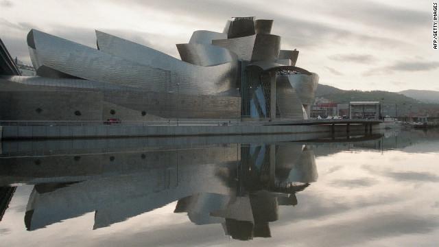 The Frank Gehry-designed Guggenheim Museum Bilbao