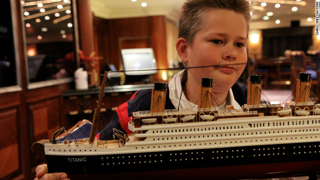 Patrick Druckenmiller's grandmother bought him a replica of the Titanic during the ship's stop in Halifax, Nova Scotia.