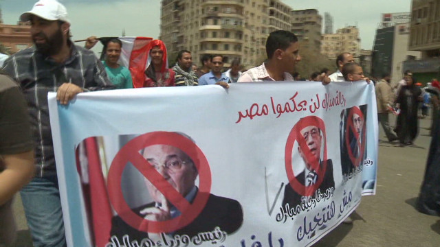 Muslim Brotherhood protests candidate
