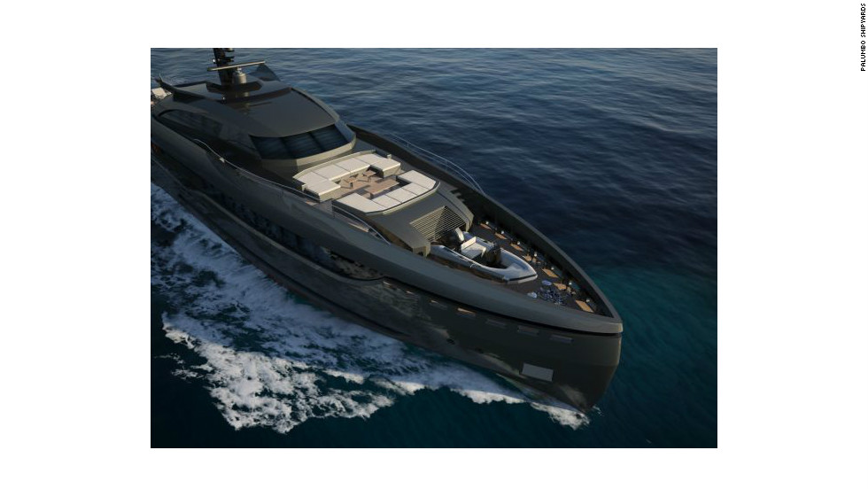 The sleek exterior of the vessel is composed of aluminium which reduces the boats weight and energy consumption, its designers say.