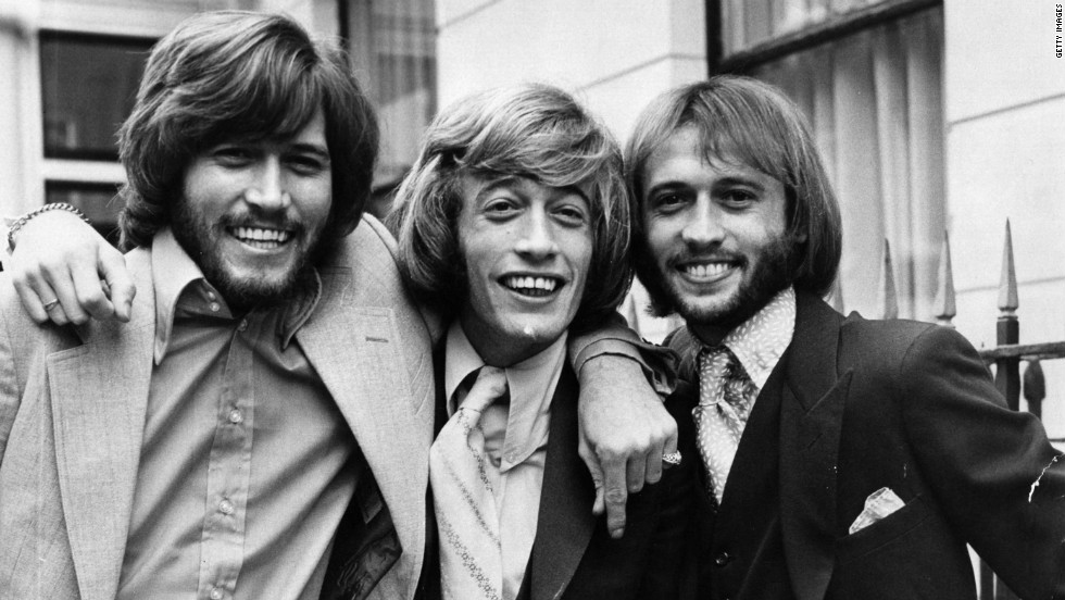 From left to right, brothers Barry, Robin and Maurice Gibb in 1970.