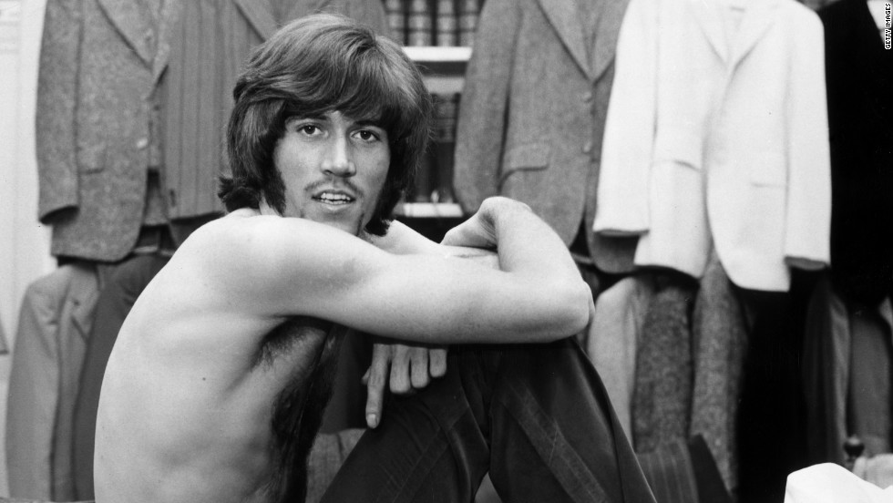 Singer Barry Gibb poses just after winning a Beau Brummell award for best-dressed personality in Britain.