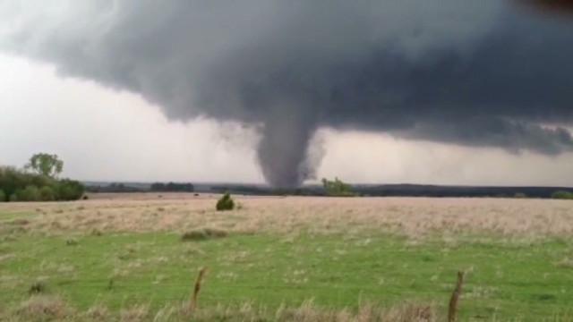 Tornadoes strike the Plains