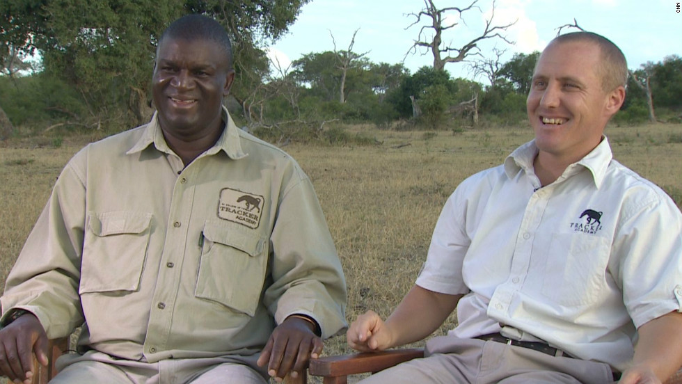 Renias Mhlongo (left) and Alex van den Heever (right) are two of the very few senior trackers in South Africa.