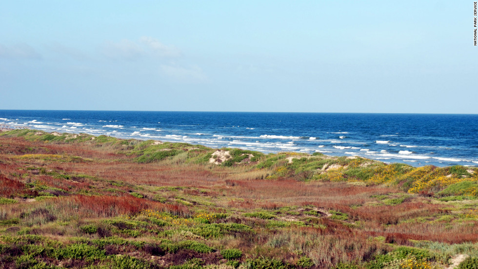 With 70 miles of protected coastline, Padre Island in Texas is the longest undeveloped barrier island in the world. The island is favored nesting ground for the endangered Kemp's ridley sea turtle and is inhabited by more than 380 species of birds.