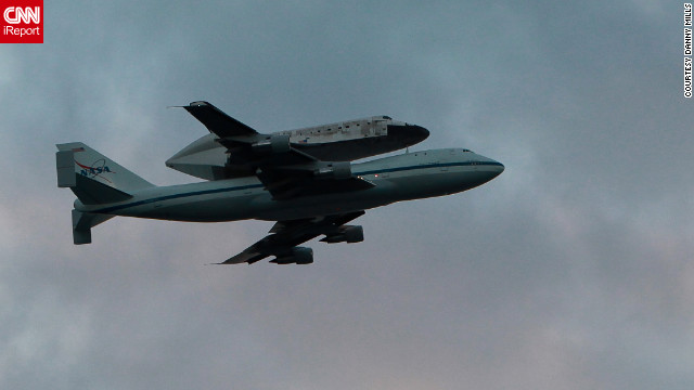 The space shuttle Discovery is airlifted from Florida's Kennedy Space Center to Washington, D.C., where it  will be on display.