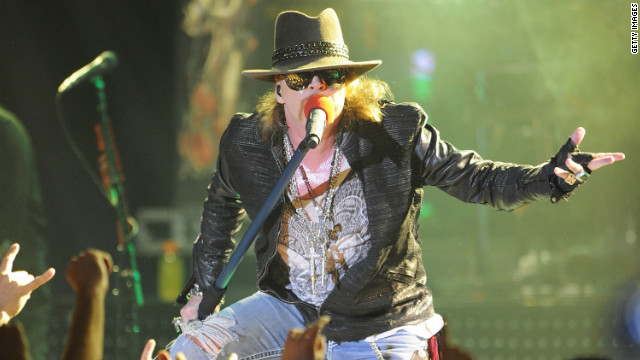 Singer Axl Rose of Guns N' Roses performs at the Hollywood Palladium on March 9, 2012 in Hollywood, California.