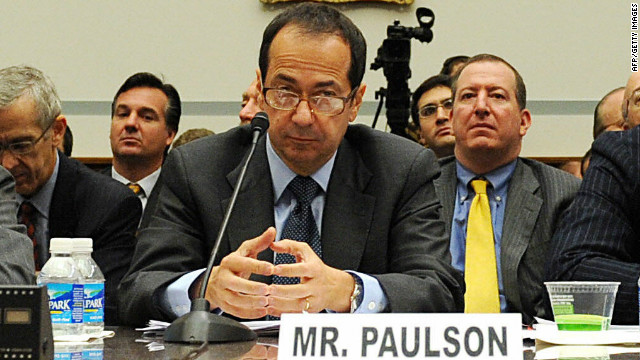 John Alfred Paulson, president of Paulson & Co., Inc, attend the House Oversight and Government Reform Committee at a Capitol Hill hearing on the topic of 'The Regulation of Hedge Funds' on November 13, 2008 in Washington, DC.