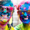 crazy races Color Run closeup