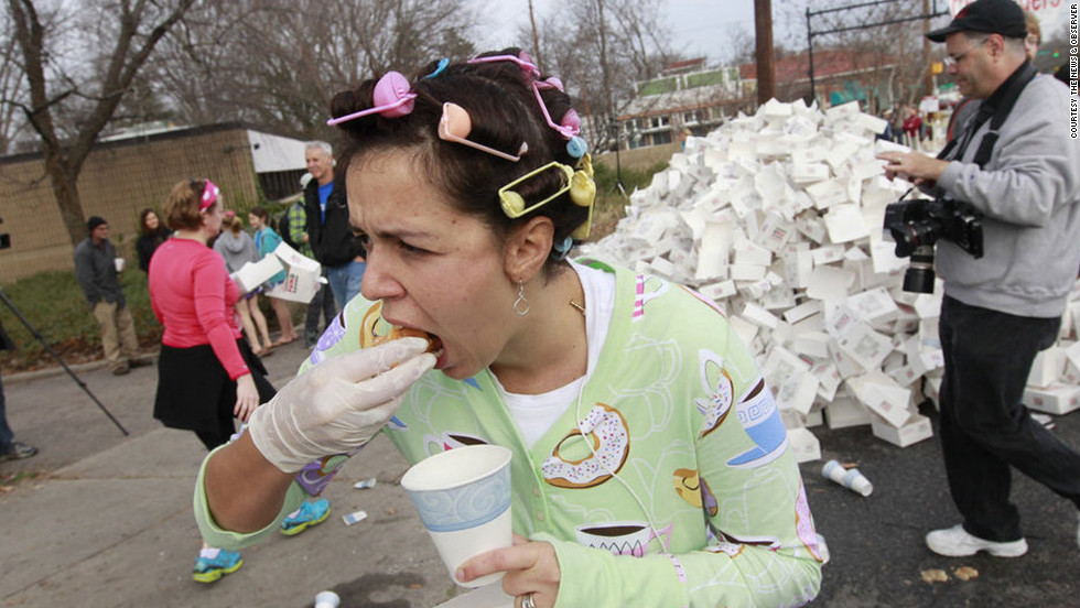"Ah, the <a href=""http://www.krispykremechallenge.com/ "" target=""_blank"">Krispy Kreme Challenge</a> -- one of the first races for binge-eating athletes. Now in it's ninth year, the challenge asks more than 7,000 runners to tackle 2.5 miles, eat one dozen doughnuts and then waddle back to the finish line at the North Carolina State University bell tower in Raleigh."