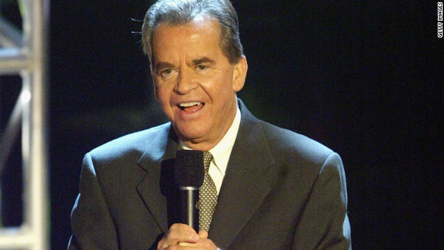 "LOS ANGELES, CA - APRIL 4: Dick Clark at ""Motown 45"" Anniversary Celebration Show held at the Shrine Auditorium, April 4, 2004 in Los Angeles, California. (Photo by Frazer Harrison/Getty Images)"