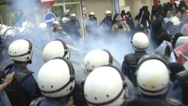 On patrol with Bahrain's riot police